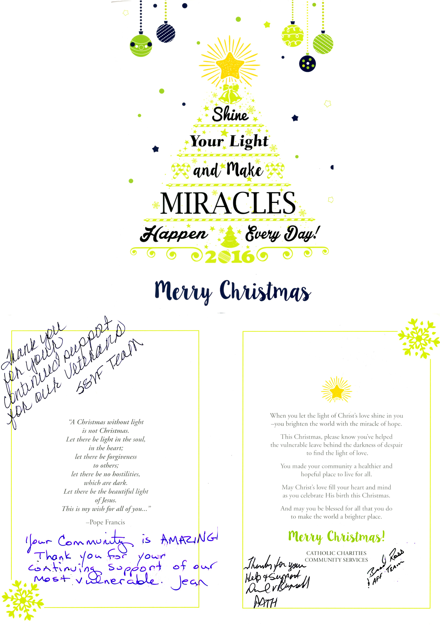 "December 15, 2016 Cathoic Charities ""Thank You"" Card"